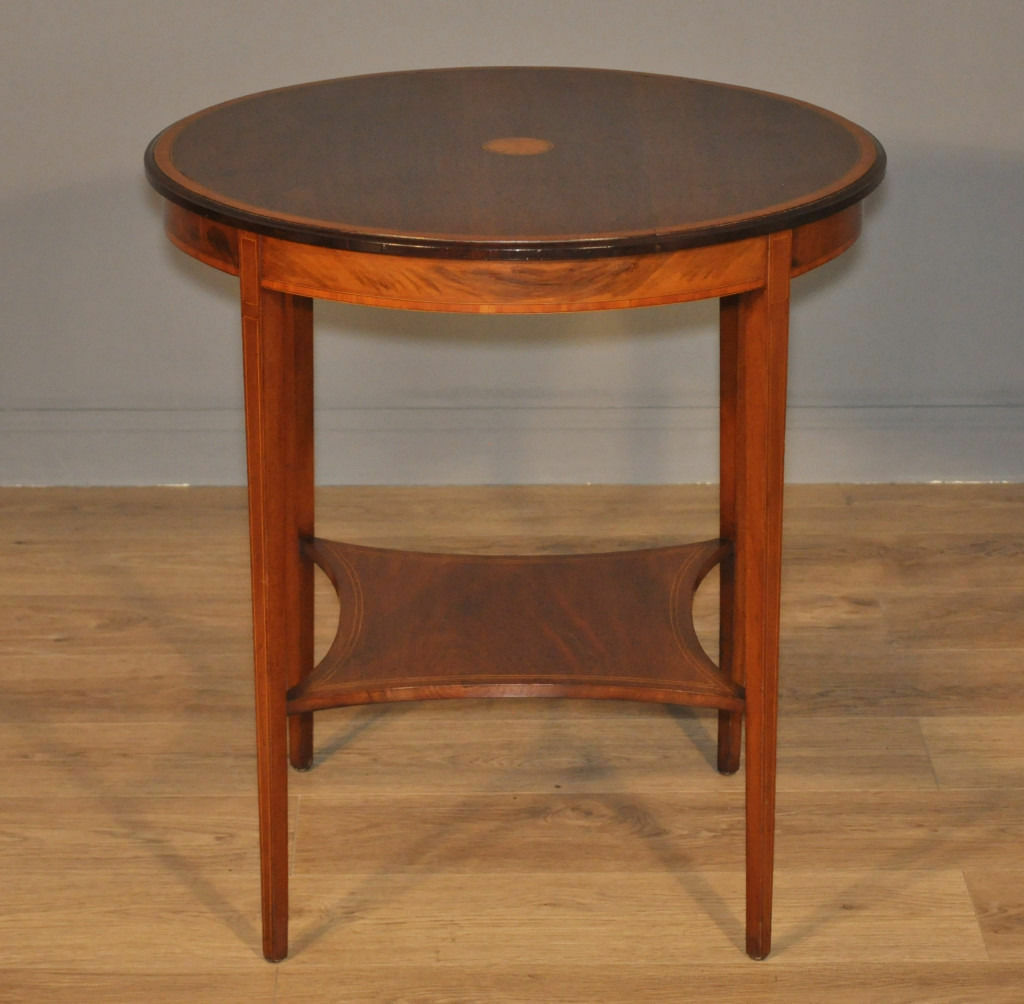 Attractive Antique Edwardian Mahogany 2-tier Occasional Side Hall Window Table