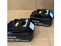Makita 2x BL1840B 4AH Batteries (brand new)