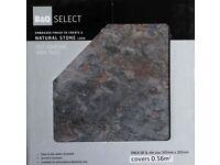 36 grey-slate colour, 30cm by 30cm self-adhesive vinyl floor tiles - 6 boxes (6 tiles in box