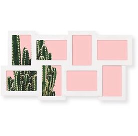 *OLIVER BONAS* White Rubix 8 Picture Multi Wall Frame - RRP £50