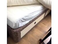 Single bed divan with NEW IKEA mattress( NEVER USED)
