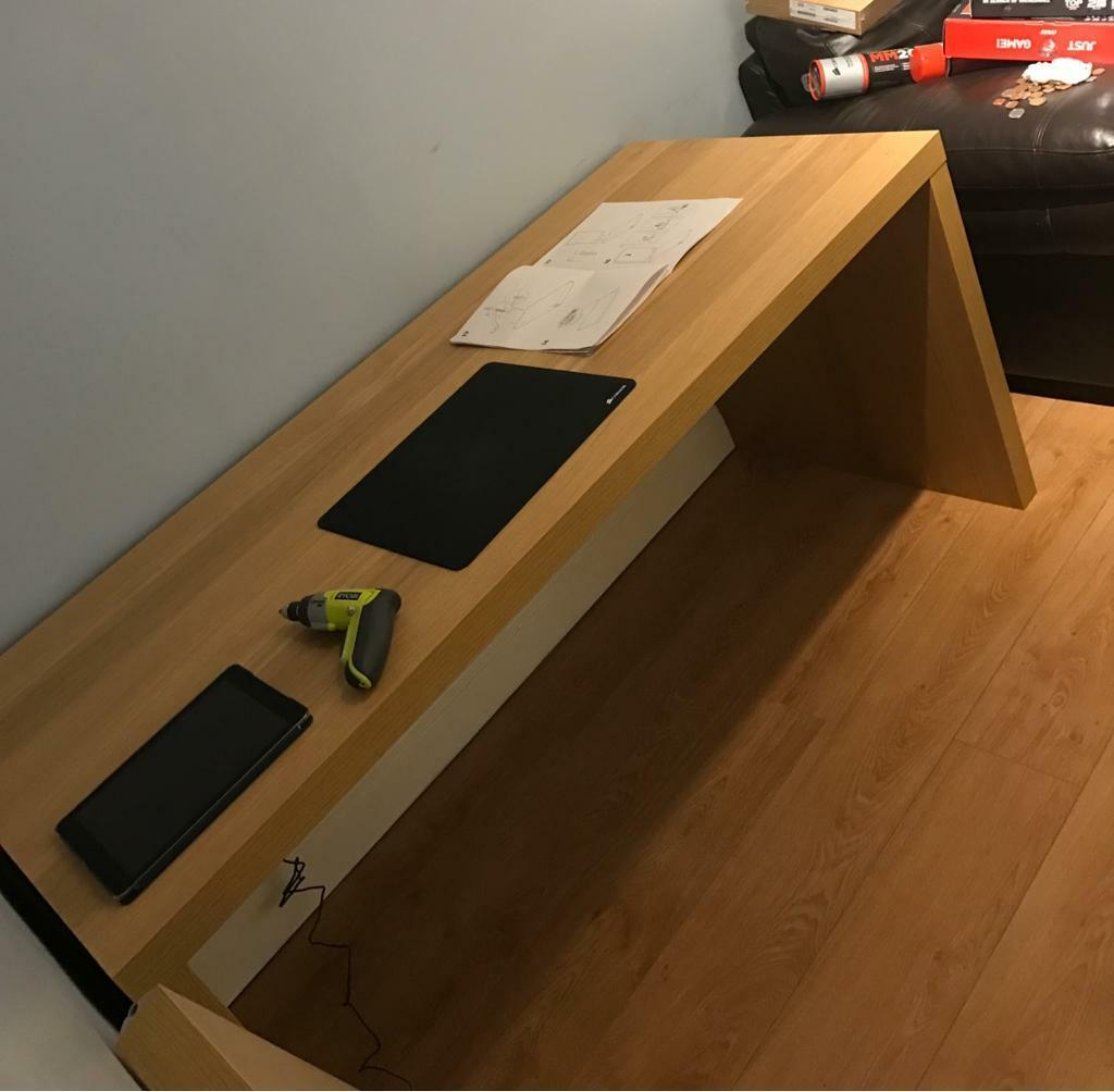 Ikea Oak Effect Computer Desk