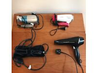 Hair dryer & curling iron, good condition (RFF)