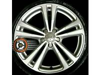 "18"" Genuine Audi new shape 2015 alloys refinished, new Michelins."