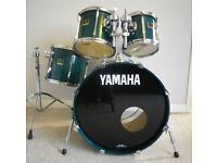 Yamaha Stage Custom Shell Pack Green Lacquer Fusion Sized Drum Kit