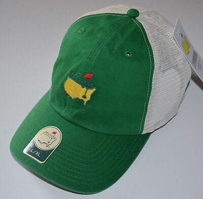 2018 MASTERS (GREEN/WHITE) Trucker FITTED (L/XL) Golf HAT from AUGUSTA NATIONAL ()