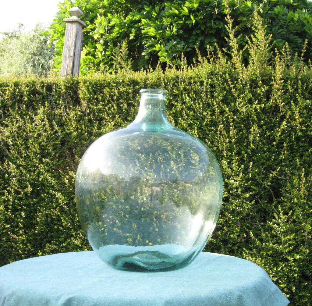 Vintage Large Glass Carboy Carbuoy Demijohn Bottle Garden Terrarium