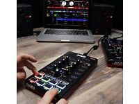 AKAI PRO AFX Ultra Portable USB Powered 4-Deck DJ FX Controller for Serato DJ Including Flip