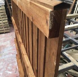 🚧Flat Top Brown Fence Panels - Pressure Treated Timber