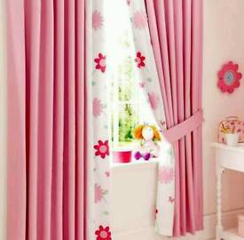 Curtains and lampshade