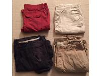 4 pairs of men's shorts. All worn once. Hollister, Abercrombie & Fitch, Firetrap, Timezone. W32/34