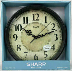 NEW Sharp Quartz Early American Anitique Parchment Face Country Style Wall Clock