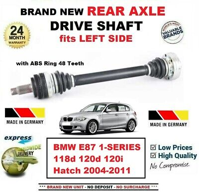A PAIR OF RIGHT /& LEFT REAR DRIVE SHAFTS FITS FOR BMW 1 E87 118 D 2004-2012