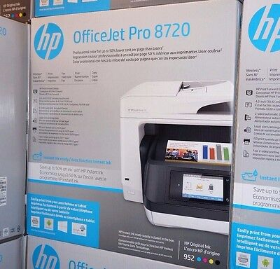 Hp Officejet Pro 8720 E All In One Wireless Inkjet Color Printer Copy Scan Fax