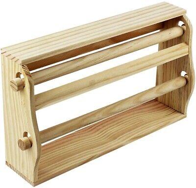 Portarrollos de Cocina de Pared encimera doble en madera Film Papel Porta...