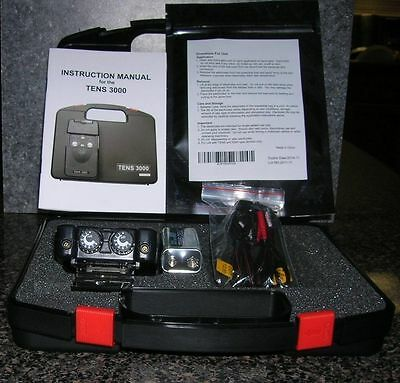 NEW! TENS 3000 UNIT. BATTERY, LEADWIRES,& ELECTRODES INCLUDED ()
