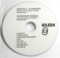 Cd Manuale Officina Serv. Gilera Dakota Saturno Xrt Rc-600 Nordwest 350-500-600 - saturn - ebay.it