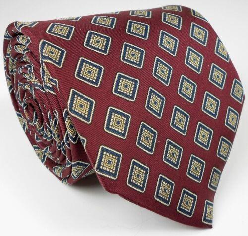 "Lands End EUC Vintage Gentleman's Geometric Pattern Silk Tie Mens 61"" L 3 5/8"" W"