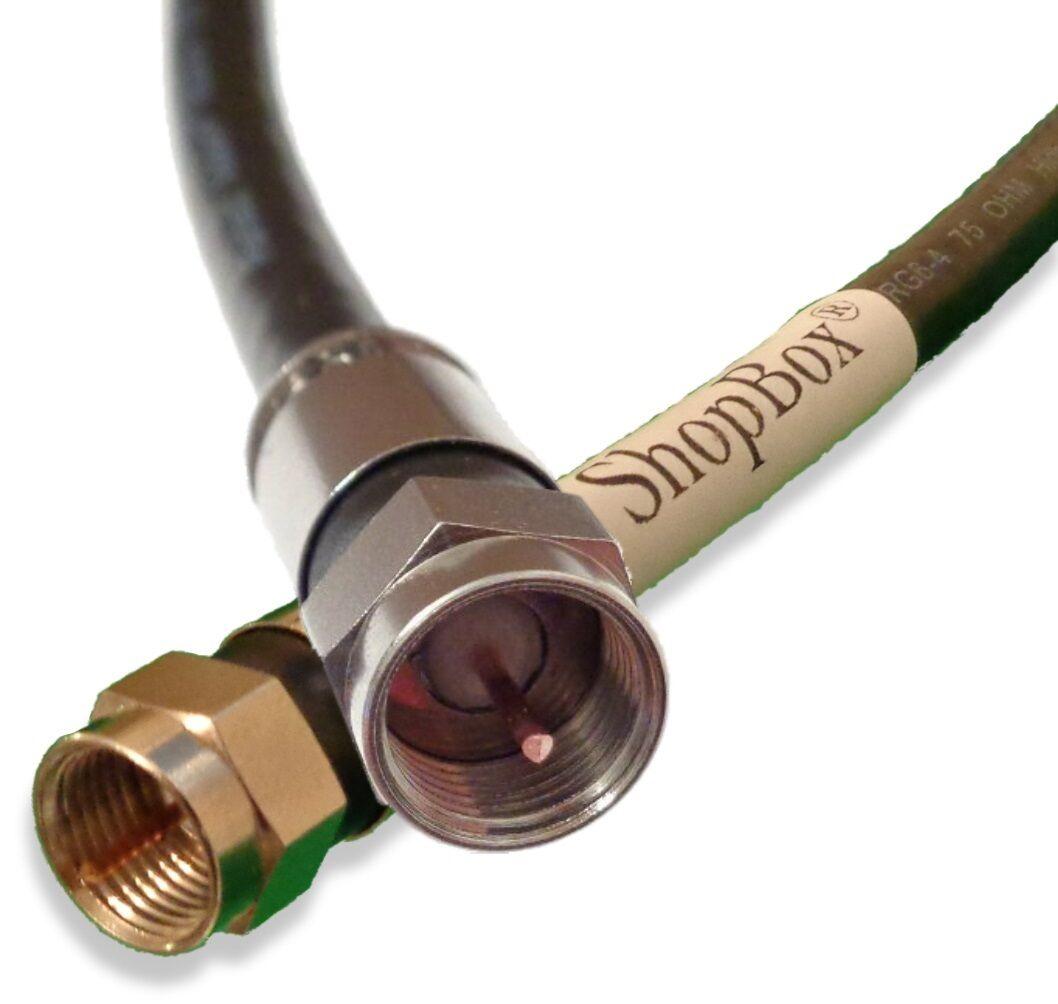 Quad Shield RG6 Solid Copper Coax CL2 Digital Performance Cable for TV Broadband