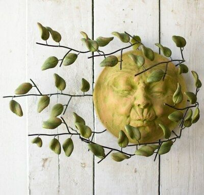 - Sun Face Wall Decor Hanging Indoor Outdoor Patio Garden Blowing Leaves