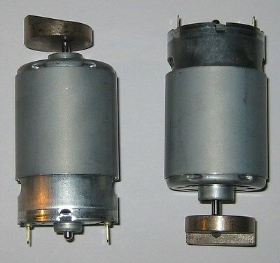2 X Mabuchi 555 Massager Motor - 12v Dc - 4000 Rpm - Heavy Vibrator Brass Weight