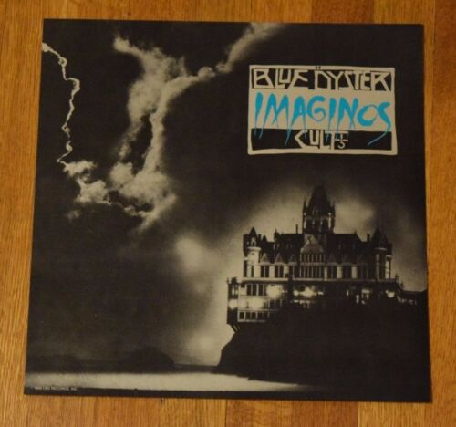 "Blue Oyster Cult ""Imaginos"" 1988 2-Sided Record Promo Album Flat Art Poster RARE"