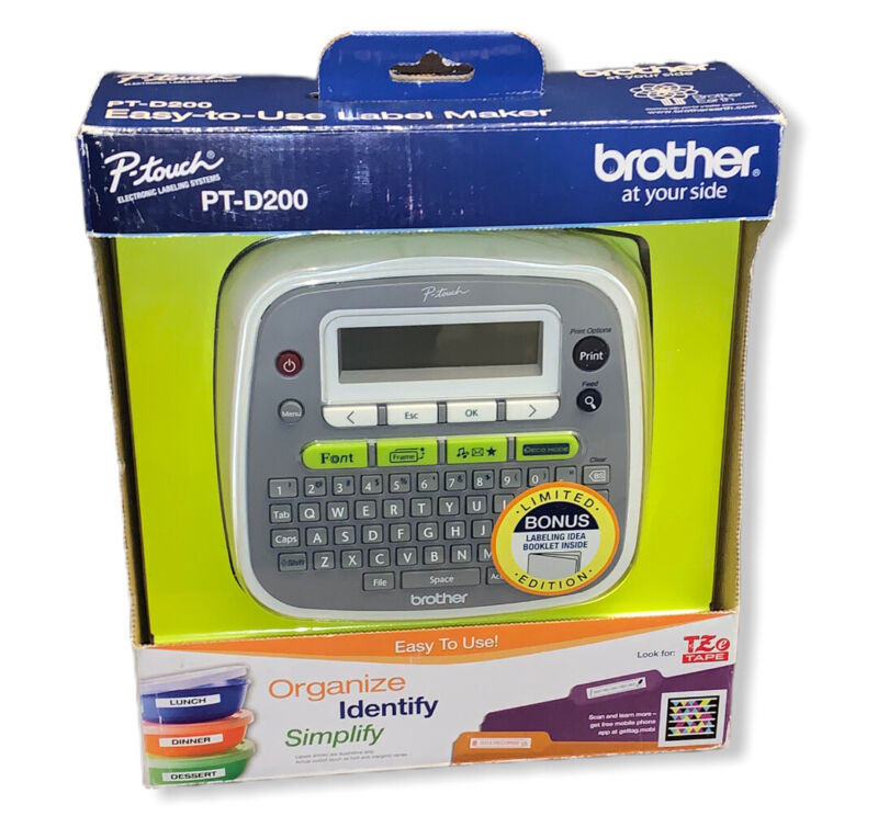 NEW OB Brother P-Touch PT-D200 Label Printer