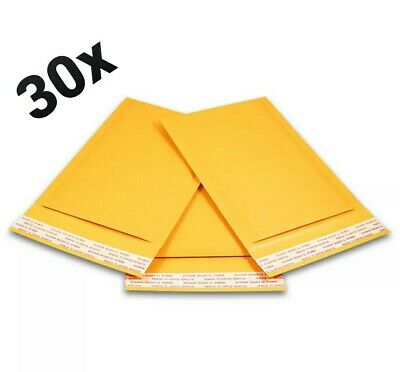 30x Bubble Mailers Padded Envelopes 5x7 - Perfect For Cards And Top Loaders