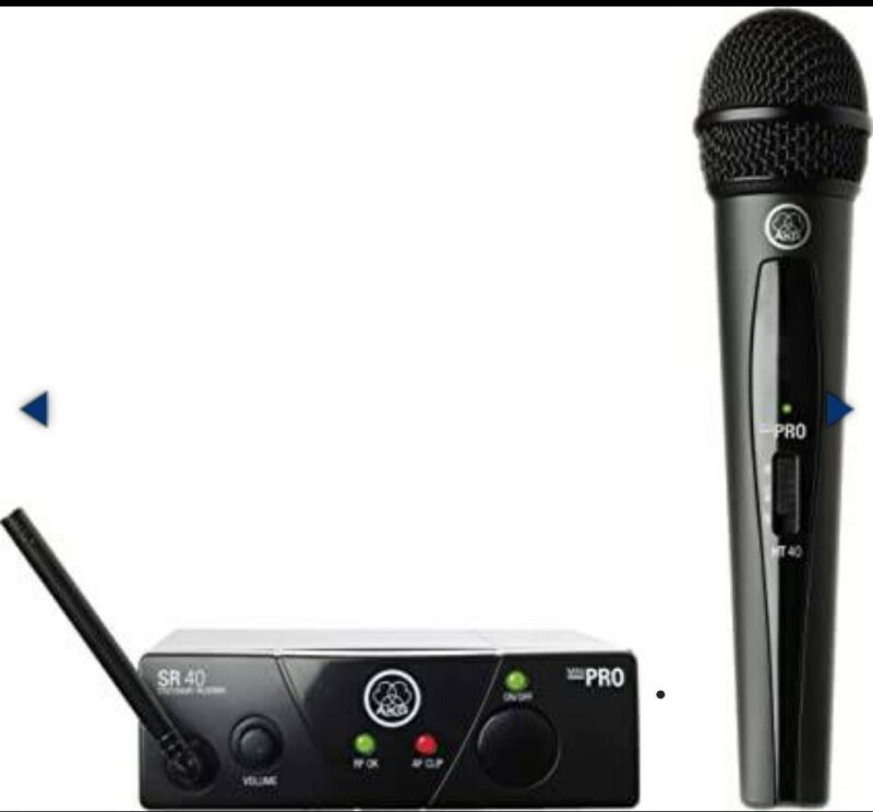 AKG Pro Audio WMS40 Mini2 Vocal Set Wireless Microphone System US45A/C