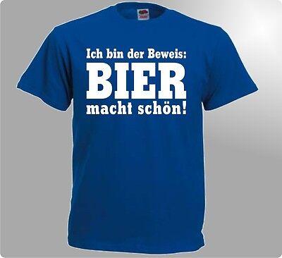 Funshirt Ich bin der Beweis Bier macht schön witzig Herren T-Shirt lustig Spruch - Bier Bin