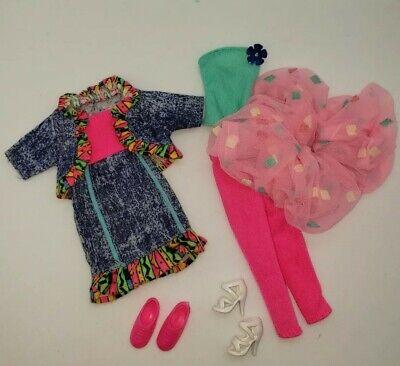 Vintage Barbie 80s 90s Acid Wash Pink Blue Tops Skirts Pants Lot