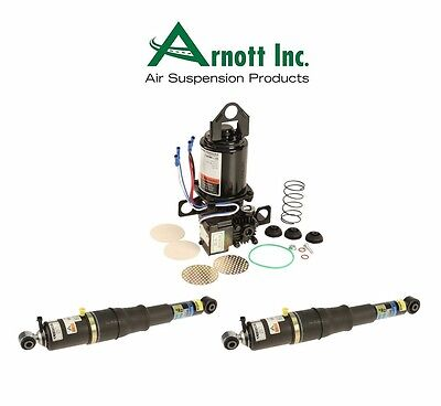 For Cadillac Escalade Rear Set of 2 Shock Absorbers+Suspension Compressor Arnott