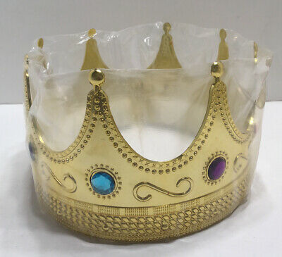 King Crown Halloween Costume (Regal King Crown Unisex Gold King Crown For Kings And Queens Halloween)