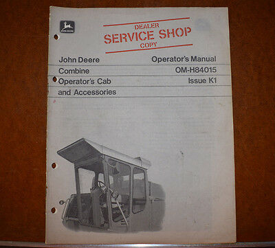 John Deere Combine Cab Accessories Operator Manual Dealer Shop Copy Om-h84015