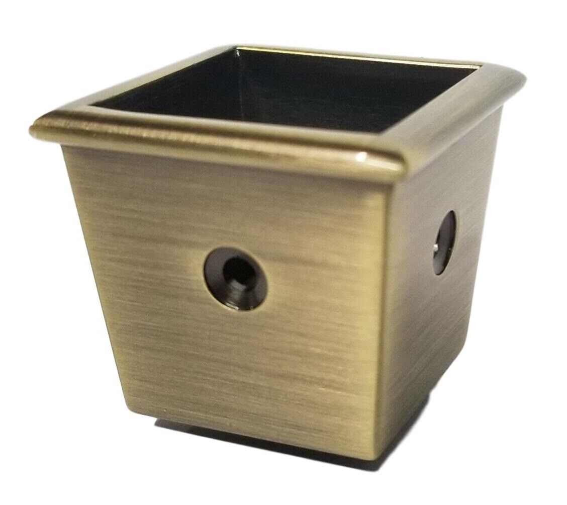 Solid Brass Square Furniture Caster Cup – 3 Hole Design Furniture