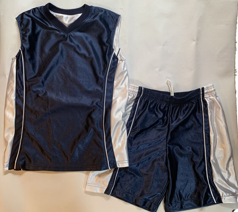Youth A4, Reversable Basketball Jersey And Short Kit, Navy/White Youth Large