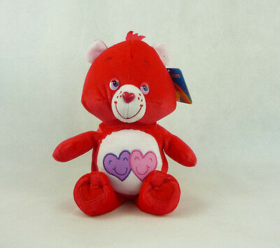 Care Bears Glücksbärchis Plüsch 22cm Rot - 2 Herzen (Rot Care Bear)