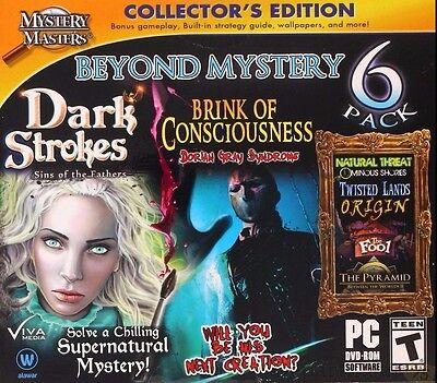 Computer Games - Beyond Mystery 6 Pack PC Games Windows 10 8 7 XP Computer hidden object