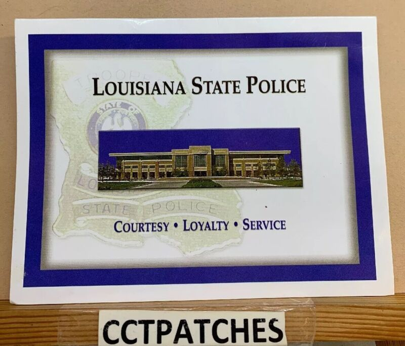 LOUISIANA STATE POLICE W/ CARD SHOULDER PATCH LA