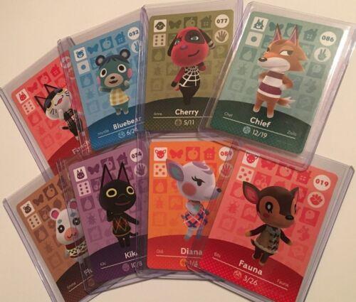 Animal Crossing Amiibo Cards Series 1 NA US You Choose & Pick Nintendo