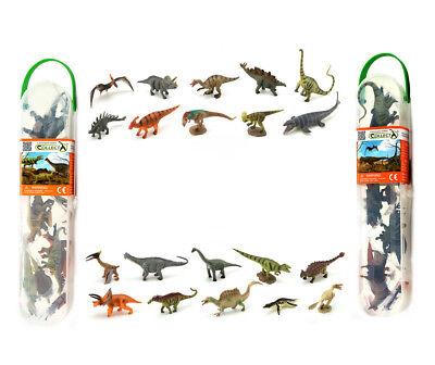 CollectA Mini Dinosaur Sets A1101 & A1102 Set 1 & Set Total 20 Pieces - NIP