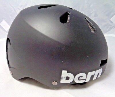 Bern Macon All Season Hard Hat - Size M; Black -Skate, Ski, Snowboard, Bike -Blk Bern Macon Hard Hat