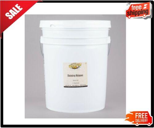 5 Gallon Blackstrap Molasses Sulfur Free Pail Barrel Gallons Perfect  Viscosity