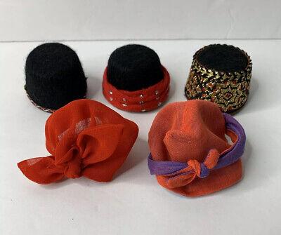 "Madame Alexander Lot Of 5 Hats Headpieces Fits 8"" Dolls"