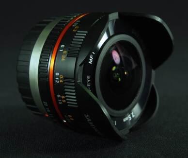 Samyang 7.5mm f3.5 m4/3rds Fisheye Lens