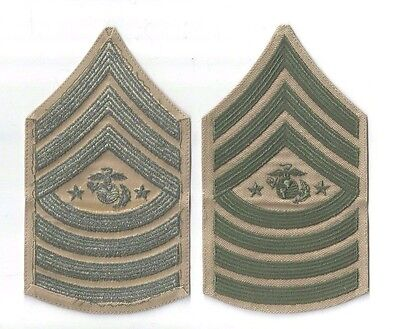 SARGENT MAJOR OF THE MARINE CORPS SHOULDER INSIGNIA NEW