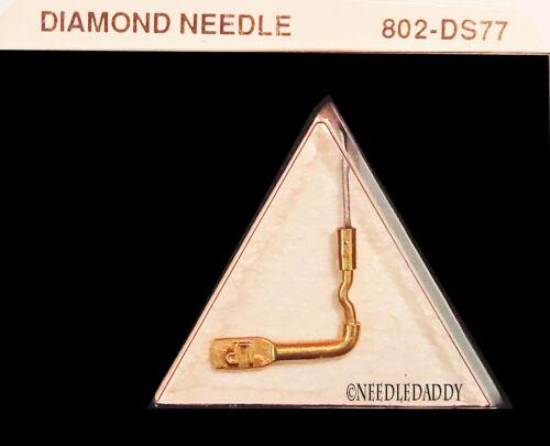 NEW DIAMOND PHONOGRAPH  NEEDLE for Sonotone 3T Sonotone N3T 802-DS77