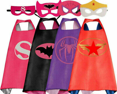 Halloween Costumes For 4 Girls (4 Superhero Capes and Masks for Kids Girls Cosplay Costumes Halloween Dress)