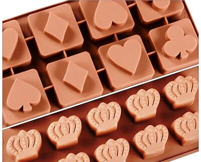 Chocolate Love of King and Queen - Playing Cards Icons & Crown of King Sh... New