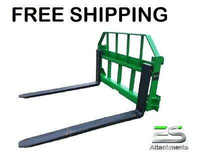 48 John Deere Pallet Forks Quick Attach Powder Coated Green Free Shipping